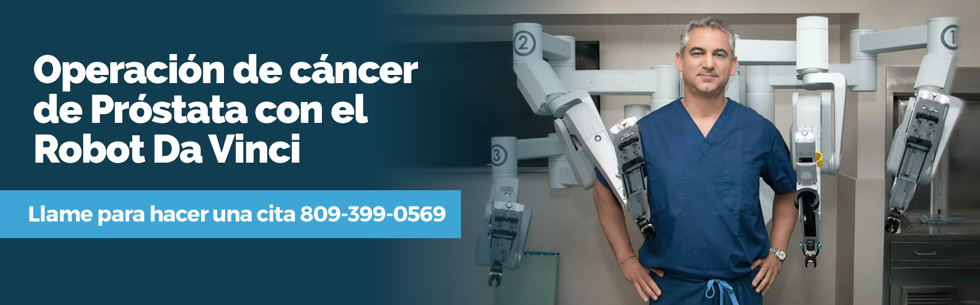 operacion cancer prostata da vinci