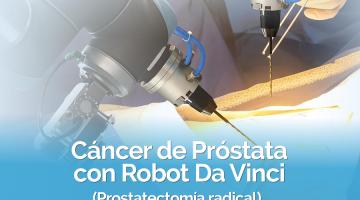 robot da vinci para prostata