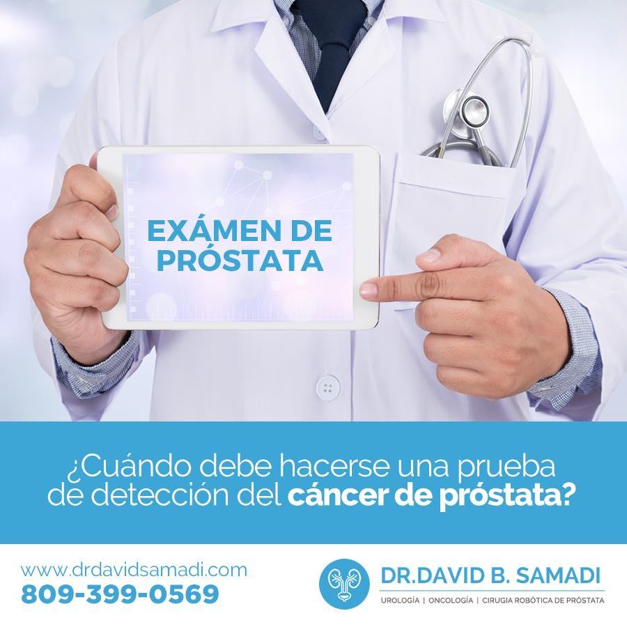 cuándo hacerse la prueba de detección de cáncer de próstata